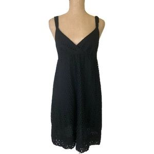 Vince Strappy Black Eyelet Summer Mini Dress